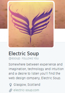 Electric Soup Twitter Bio