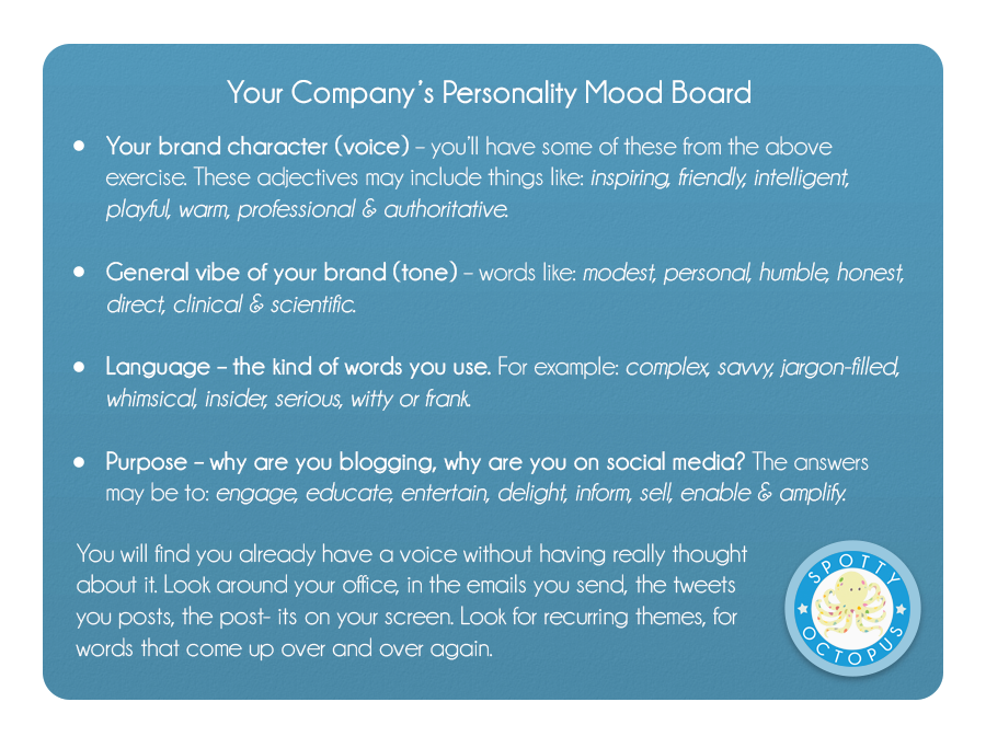 Your Company's Personality Mood Board